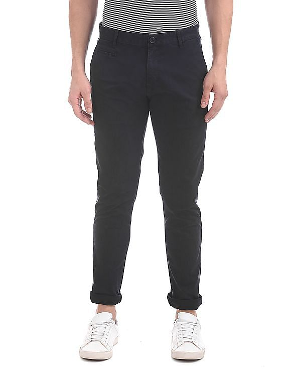98f76841d13 Buy Men Super Skinny Fit Twill Trousers online at NNNOW.com
