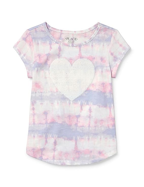 e4109239 Buy Girls Girls Short Sleeve Flip Sequin Tie-Dye Graphic Top online at  NNNOW.com