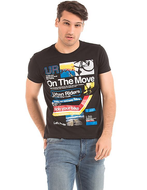 Flat 50% off on LEE By Nnnow | LEE Regular Fit Printed T-Shirt @ Rs.650