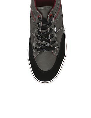 Flying Machine Contrast Panel Low Top Sneakers
