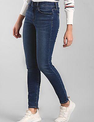 GAP Blue Skinny Fit Medium Wash Jeans