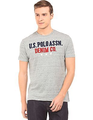 U.S. Polo Assn. Denim Co. Brand Applique Heathered T-Shirt