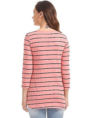 SUGR Striped Active Top