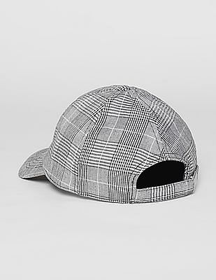 GAP Men Black Plaid Baseball Hat