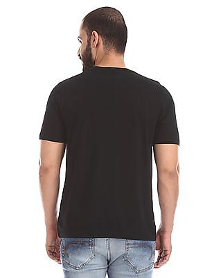 Colt Black Crew Neck Graphic T-Shirt