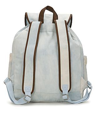 Aeropostale Crochet Trim Denim Backpack