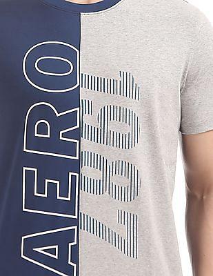 Aeropostale Panelled Regular Fit T-Shirt
