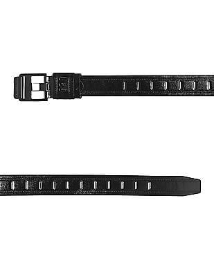 Colt Black Metallic Buckle Perforated Belt