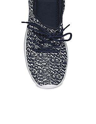 Aeropostale Knit Upper Contrast Sole Sneakers