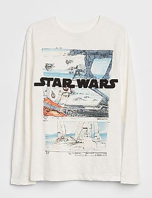 GAP Boys White Star Wars™ T-Shirt