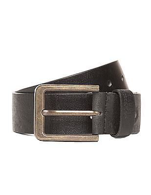 Flying Machine Distressed Leather Belt