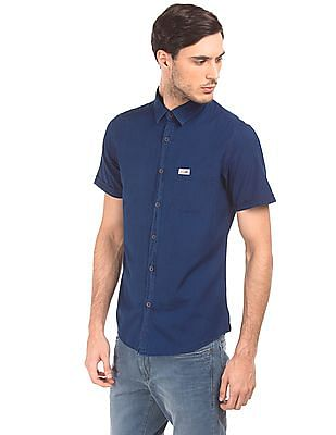 U.S. Polo Assn. Denim Co. Slim Fit Short Sleeved Shirt