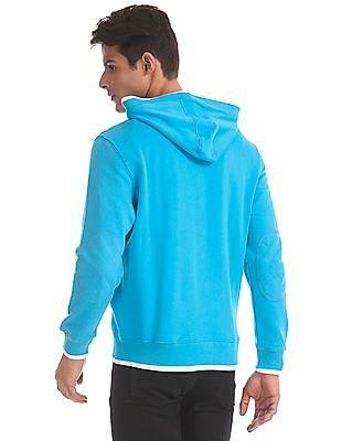 U.S. Polo Assn. Blue Solid Hooded Sweatshirt