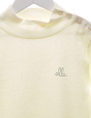 Elle Kids Girls Regular Fit Turtleneck T-Shirt