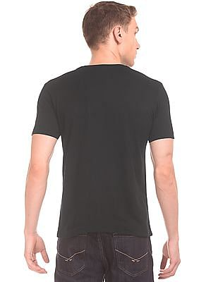 Flying Machine Glow In The Dark Print Slim Fit T-Shirt