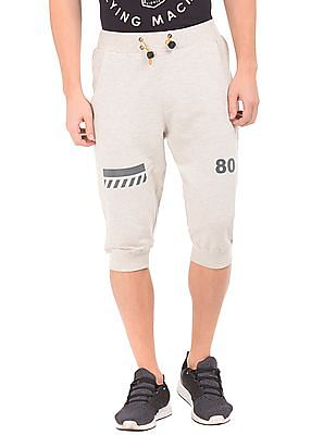 Flying Machine Heathered Cropped Joggers