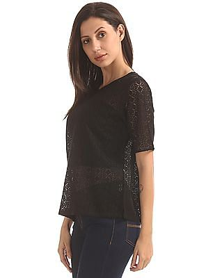 Cherokee Lace Boxy Top