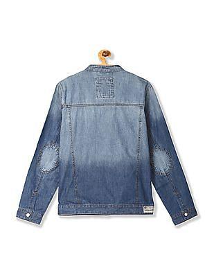U.S. Polo Assn. Denim Co. Blue Band Collar Washed Denim Jacket