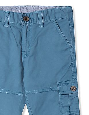 Donuts Boys Solid Cotton Stretch Cargos