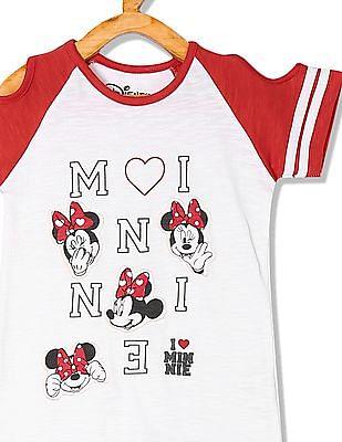 Colt Girls Minnie Mouse Cold Shoulder T-Shirt