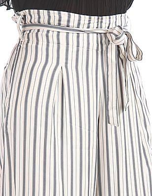 U.S. Polo Assn. Women Regular Fit Striped Trousers