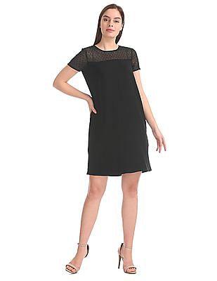 Elle Studio Sheer Panel Sheath Dress