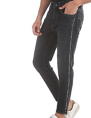 Flying Machine Black MJ Mankle Cropped Jeans