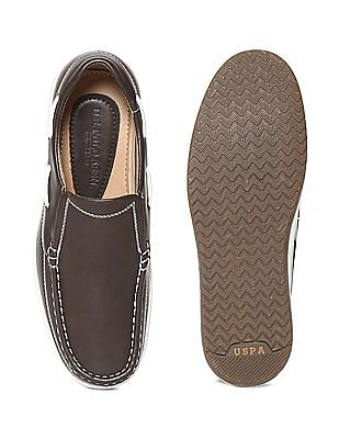 U.S. Polo Assn. Contrast Sole Round Toe Slip On Shoes