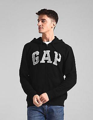 GAP Black Hooded Logo Sweatshirt
