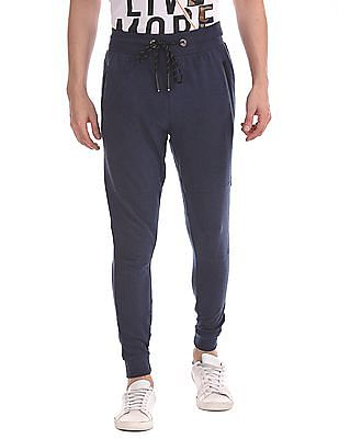 Flying Machine Drawstring Waist Heathered Joggers