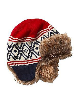 GAP Boys Alpine Fair Isle Trapper Hat