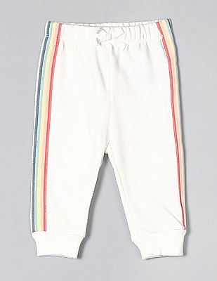 GAP White Baby Side Tape Knit Pull-On Pants