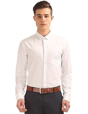 USPA Tailored French Placket Slim Fit Shirt