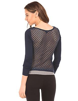 Aeropostale Lace Back Solid Top