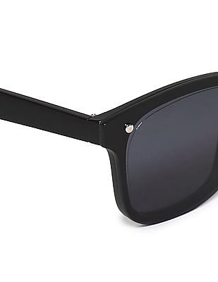Flying Machine Black Square Frame UV Protected Sunglasses