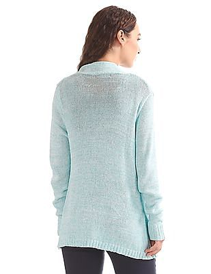 Elle Heathered Knit Open Front Shrug