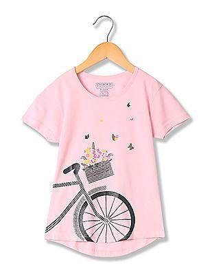 Cherokee Girls Glitter Print Cotton T-Shirt