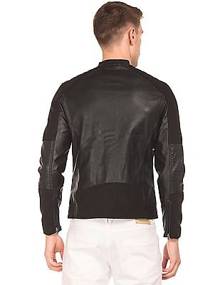 Flying Machine Panelled Biker Jacket