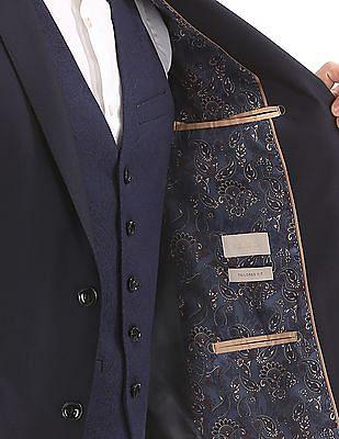 Arvind Regular Fit Three Piece Suit