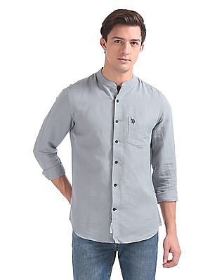 U.S. Polo Assn. Tailored Regular Fit Solid Shirt