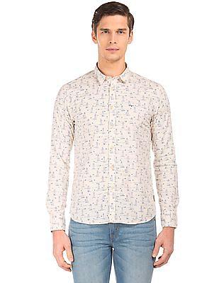 Flying Machine Slim Fit Printed Shirt
