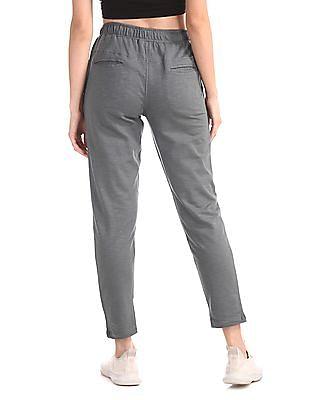 SUGR Grey Cotton Slub Active Track Pants