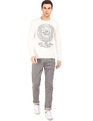 U.S. Polo Assn. Denim Co. Long Sleeve Printed T-Shirt