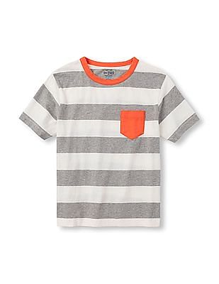 The Children's Place Boys Short Sleeve Pieced Sporty Graphic Tee