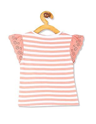 Donuts Girls Short Sleeve Striped Top