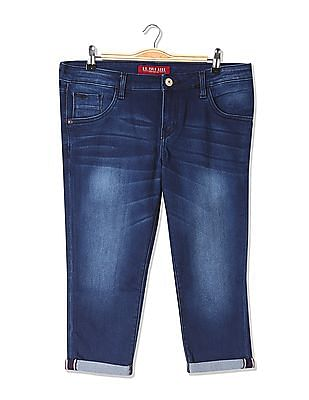 U.S. Polo Assn. Women Super Skinny Fit Cropped Jeans