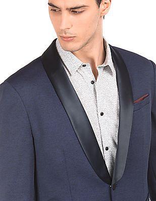 Arrow Newyork Shawl Collar Heathered Blazer