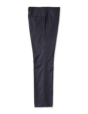 Arrow Wool Autoflex Flat Front Trousers