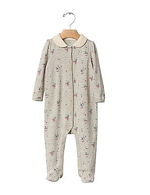 GAP Baby Floral Collar Footed One Piece