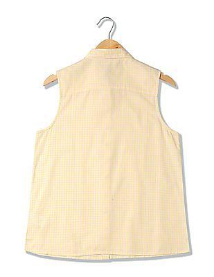U.S. Polo Assn. Women Sleeveless Check Shirt